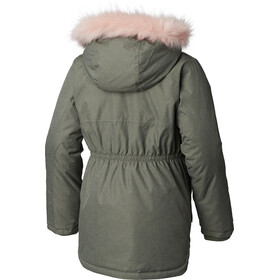 Columbia Carson Pass Manteau long Fille, cypress heather/chalk